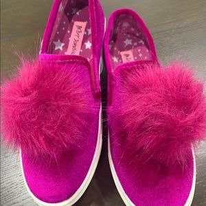 Betsey Johnson Shoes - Fashionable pom-pom sneakers.